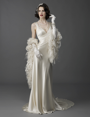 Sneak peak of posts to come chic vintage brides for Old hollywood wedding dress