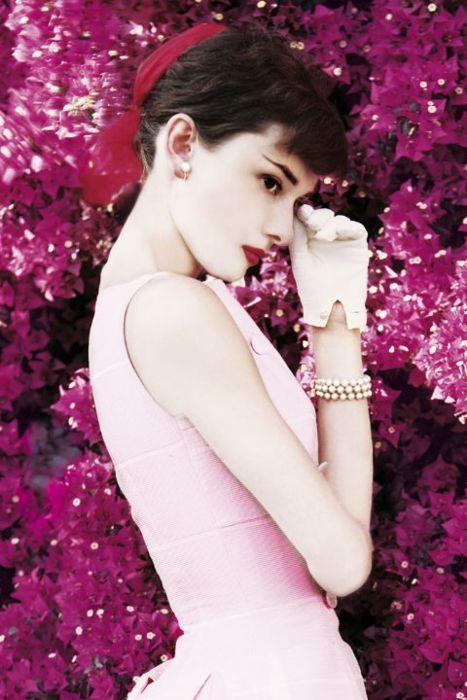 Audrey Hepburn - Vintage Pastel Pink