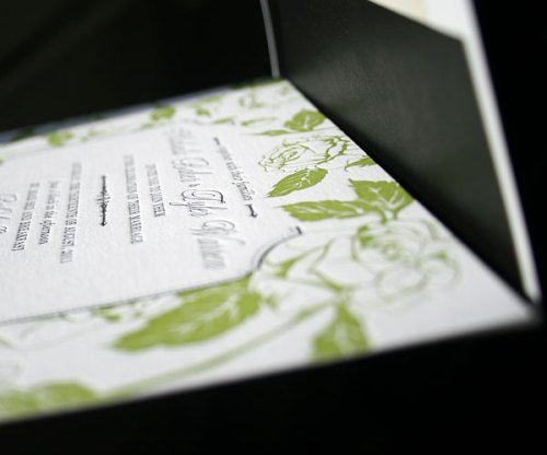 Chartreuse Floral Wedding Stationery