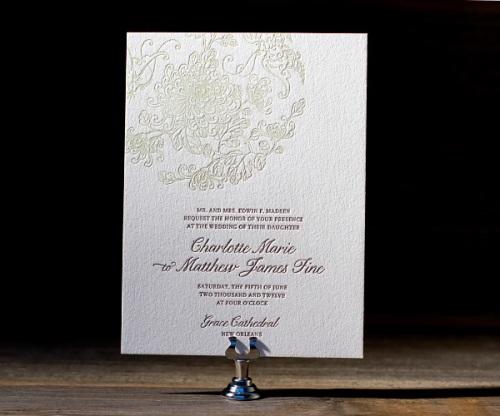 Chic VIntage Letterpress Wedding Stationery