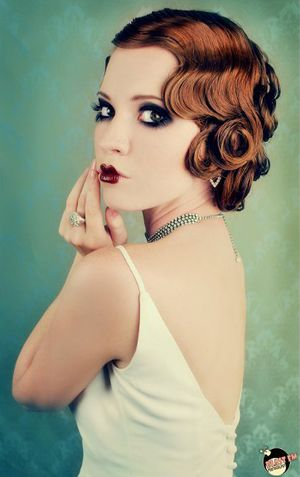 finger style hair 1930s chic vintage brides 7531