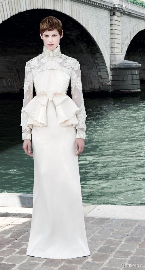 Givenchy Fall 2011 Edwardian  Wedding Dress