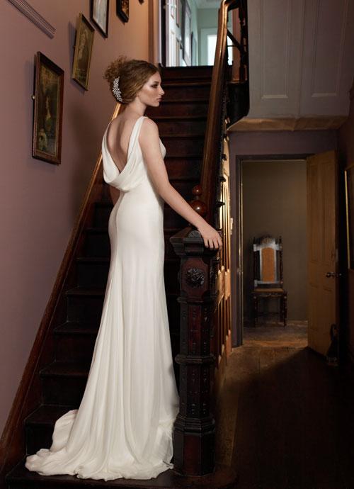 Helen English 1930s Bias Cut Wedding Gown
