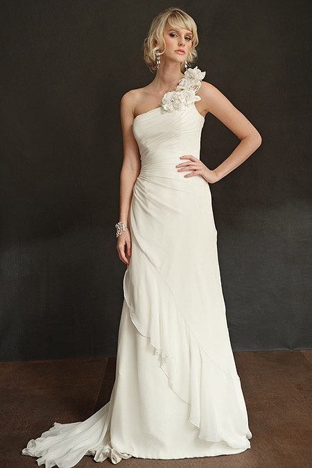 One Shoulder Bridal Gown