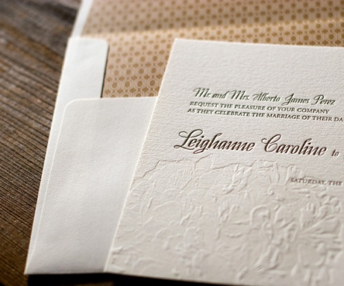Elegant Letterpress Stationery