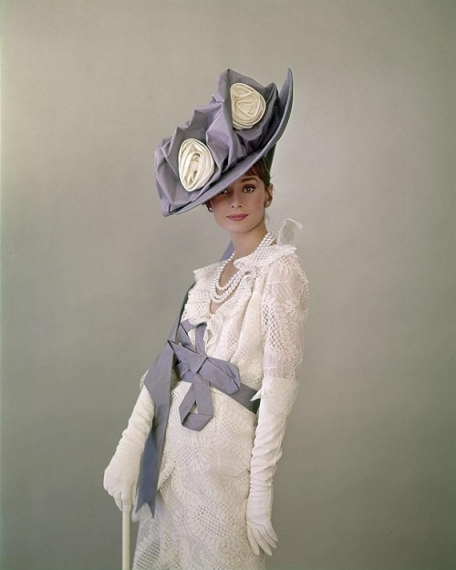 Edwardian White and Dusky Blue Outfit