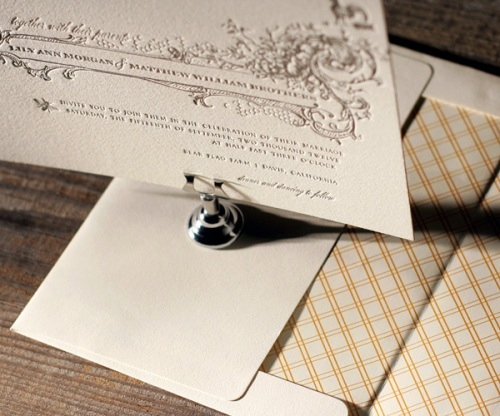 Vintage Country Chic Wedding Stationery