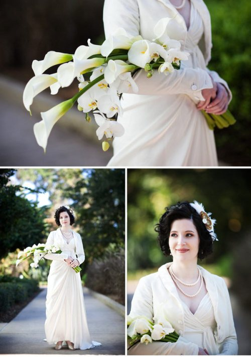 vintage-cascade-bouquet-calla-lillies