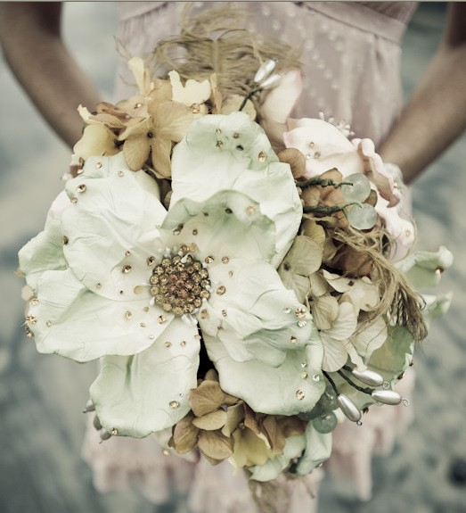 Vintage Wedding Flower Bouquets: Vintage Brooch Bouquets From