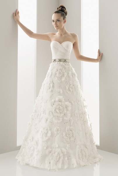 Rose Skirt Wedding Dress