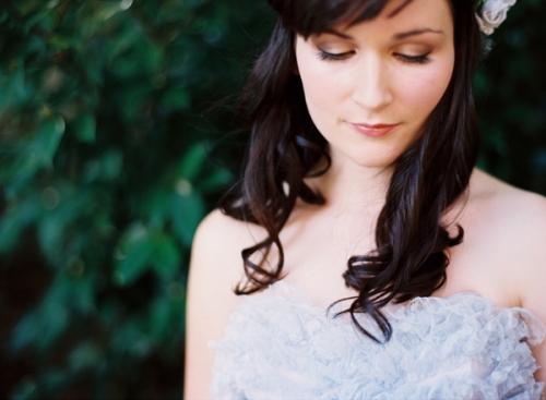 Powder Blue Vintage Bridal Gown