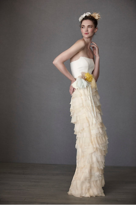 Yellow Whimsical Bridal Gown