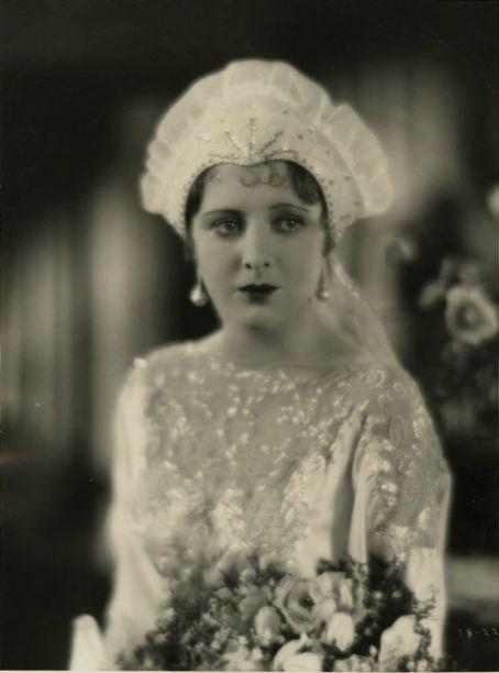 Billie Dove 1920s Bridal Dress and Headdress