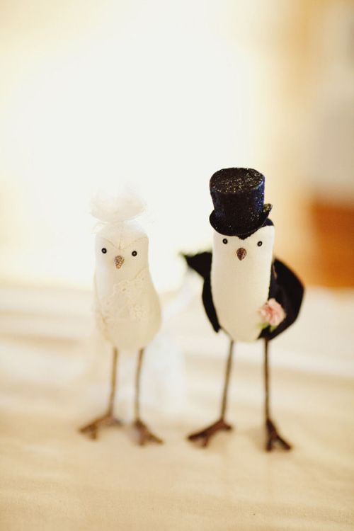 Vintage Bird Cake Toppers