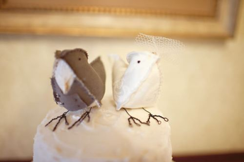 Material Vintage Bird Cake Toppers