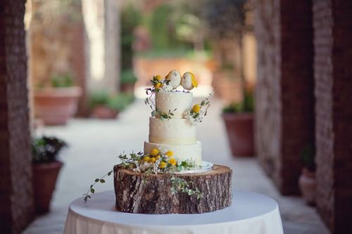 Yellow Bird Cake Toppers