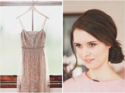 Vintage Blush Pink Wedding Dress