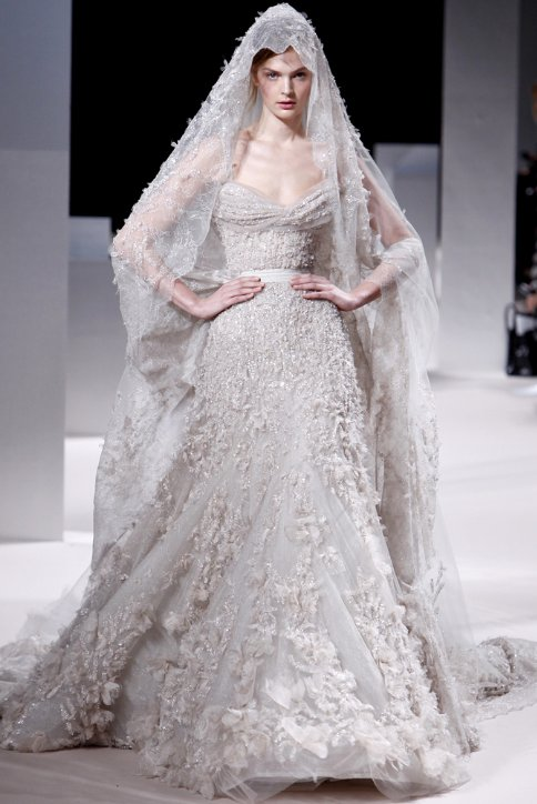 Silver Bridal Gown