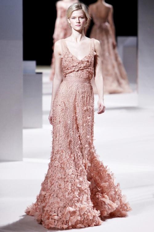 Antique Pink Bridal Gown