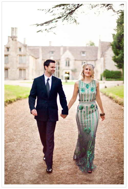 Deco Green Bridal Grown by Jenny Packham