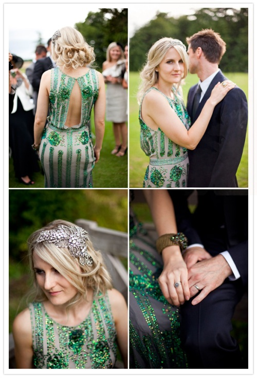 Green Deco Bridal Dress by Jenny Packham