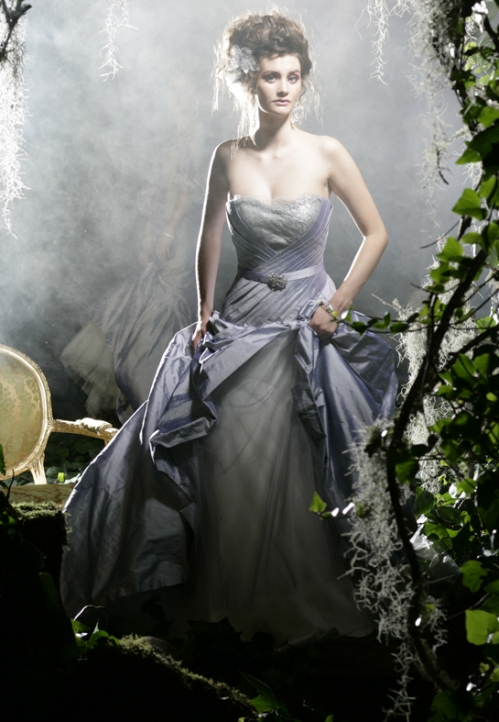 Silver Blue Bridal Gown - Karen Willis Holmes