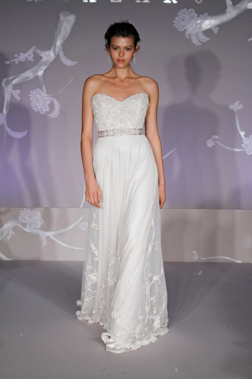 Vintage Net Bridal Gown with Chapel Train