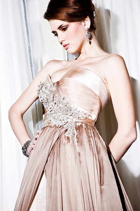 Retro Blush Pink Bridal Dress