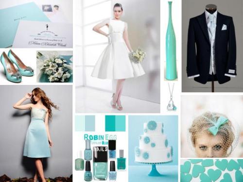Tiffany Blue 1950s Inspiration Board