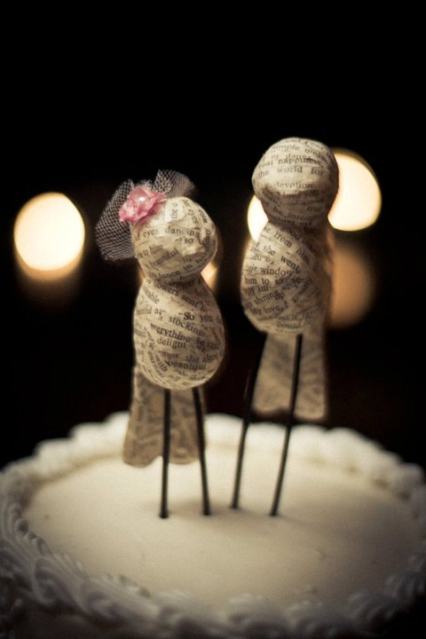 Quirky Papier Mache Bird Cake Toppers