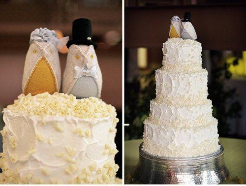 Vintage Felt Bird Cake Toppers