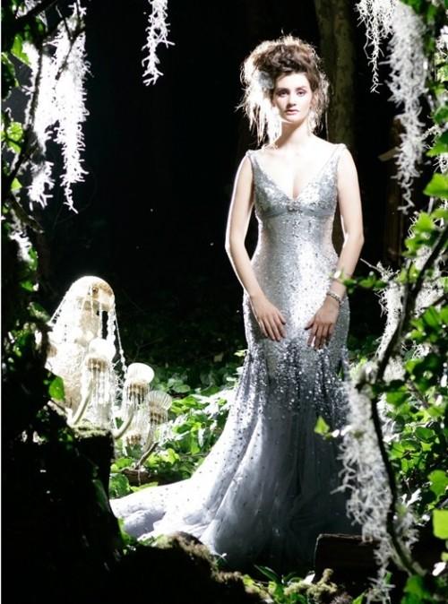 Silver Glamour Bridal Gown Karen Willis Holmes