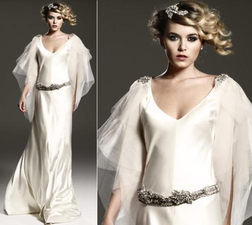 Johanna Johnson Satin Bias Cut Gown