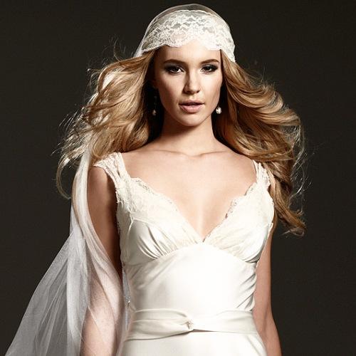 Johanna Johnson Dress and Mantilla Veil