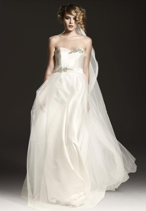 Bodiced Johanna Johnson Bridal Gown