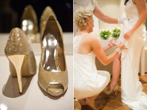 Glamorous Gold Bridal Shoes